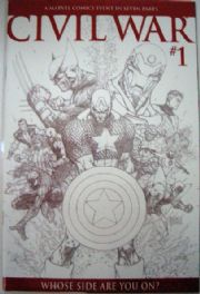 Civil War #1 Michael Turner Retail Incentive Sketch Variant 1:75 RRP Marvel Comics